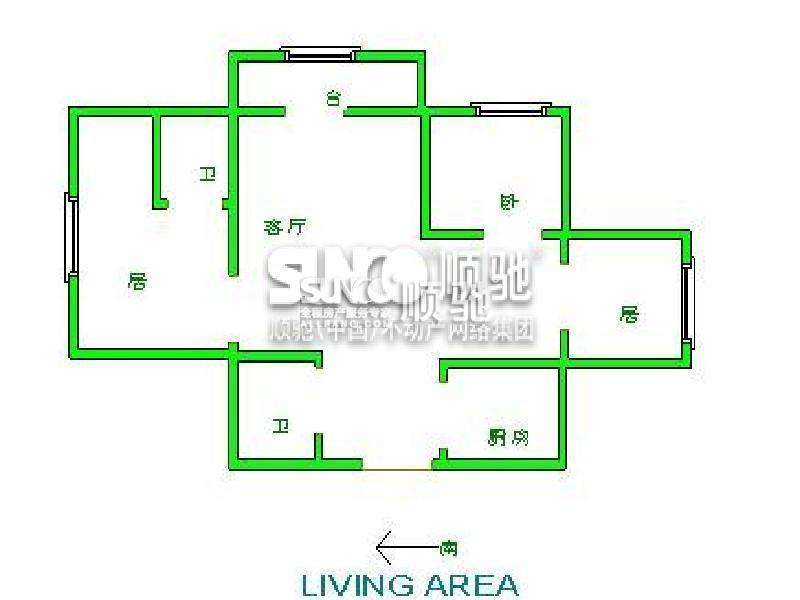 农村90平米三室一厅房屋设计图展示