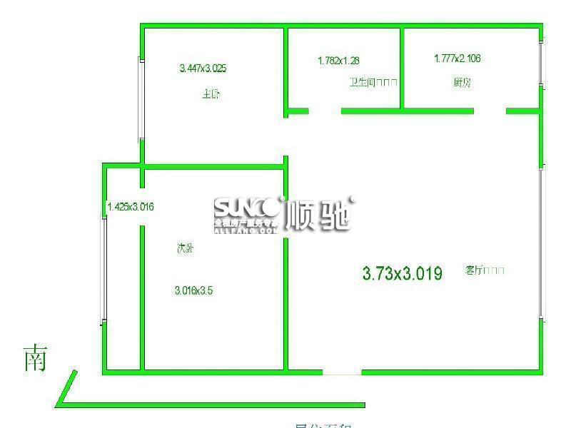 60平两室一厅精装修设计图展示图片